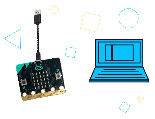 Connect your micro:bit to your computer using the micro-USB cable.