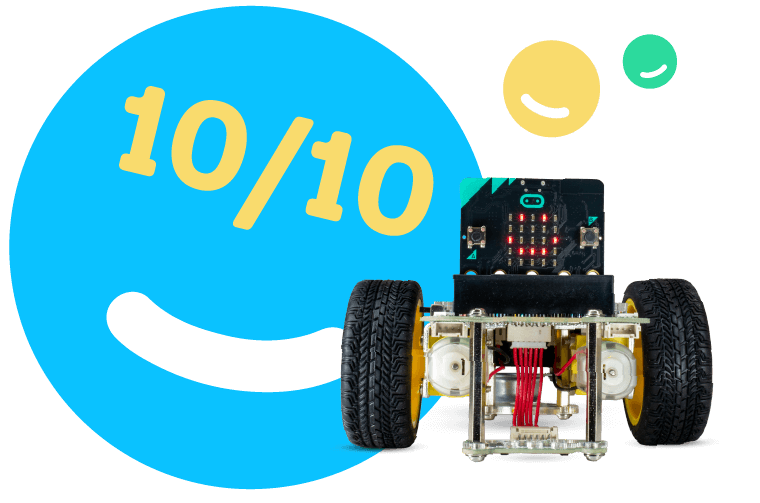 GiggleBot is rated 10 out of 10 from micro:mag