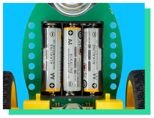 GiggleBot uses AA batteries. *Not included.