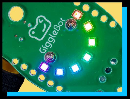 GiggleBot programmable LEDs