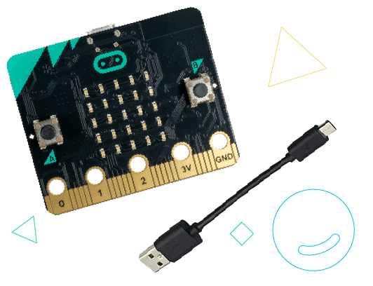 micro:bit and Micro-USB cable