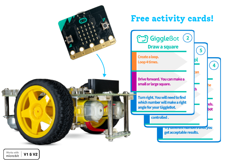 Get more from GiggleBot with free to print activity cards.