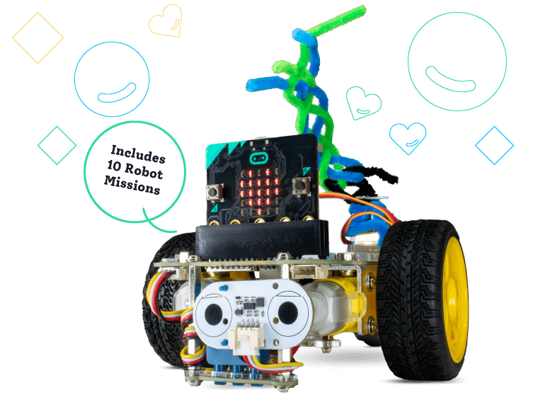 GiggleBox robot subscription includes extra robot parts and educational robot challenges
