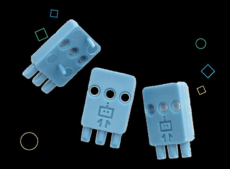 Sensor mount set of three.
